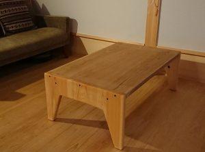 無垢のローテーブル