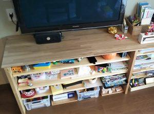 おもちゃの収納用カウンター
