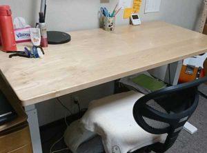 ハードメープルの勉強机